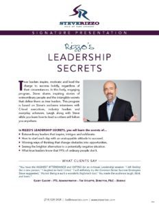 PresentationDescr Leadership SR pdf 232x300 - Rizzo's Leadership Secrets